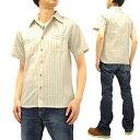 ショッピング半袖シャツ シュガーケーン SC37275 ウォバッシュストライプ ワークシャツ 東洋 メンズ 半袖シャツ 生成 新品