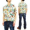 男性流行服飾 - ミスターフリーダム サンサーフ SC38090 ロックンロールシャツ Yucatan メンズ 半袖シャツ オフホワイト 新品