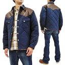 シュガーケーン ジャケット SC14451 メンズ レザーヨーク ウエスタン キルティング 中綿アウター ネイビー 新品