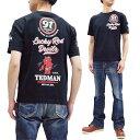 テッドマン Tシャツ TDSS-509 TEDMAN ラッキーレッドデビル エフ商会 メンズ 半袖tee ブラック 新品
