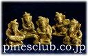 ガネーシャ 楽隊 五体セット 真鍮製 置物 MBO-007