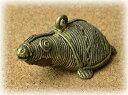インド先住民族ドクラの鋳造工芸品 ミニ動物 カメ MTB-1176