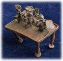 インド先住民族ドクラの鋳造工芸品 アンティーク 祭礼の行列(推定) MTB-9002