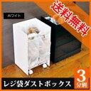 \ページ限定・カードケース付/ FRAMES&SONS レジ袋ダストボックス 3分別 UD15 ■送料無料■