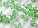 アクリル製 スクエア型ビーズ 緑 グリーンA 10粒 ネックレス ブレスレット ピアス アクセサリーパーツ