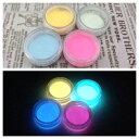 夜光 パウダー 夜光粉末 4色アソート 2g(2.05g~2.1g)*4 蓄光 顔料 レジンクラフト ネイル グローネイル