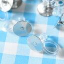 ノンホールピアス 樹脂 平皿ピアス付き【シルバー 8mm】10個 ピアスみたいなイヤリングパーツ ハンドメイド 金具 材料