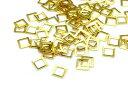メタルパーツ ゴールド 四角 3mm 20個 レジン ネイル 材料 パーツ 素材