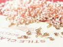 ヒートン ピンクゴールド 100個 1cm ハンドメイド 材料 パーツ アクセサリーパーツ
