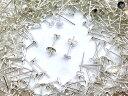 (皿のサイズ)4mm ピアス シルバー 平皿タイプ×シルバーキャッチセット 100個 (50ペア) アクセサリーパーツ 材料 素材