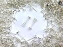 (皿のサイズ)4mm ピアス ホワイトシルバー 平皿タイプ×シリコンキャッチセット 20個 (10ペア) アクセサリーパーツ 材料 素材