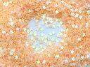 星型 キラキラミニパーツ スター レジン 封入 約1g ベージュ 肌色
