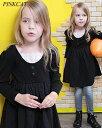 子供 長袖ワンピースCB45【Rora ノーベル ワンピース】ママも欲しくなるカジュアルワンピはナチュラルな素材感が旬!