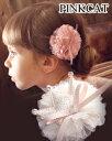 【Rora ローラークイーンヘアクリップ(3color)】ふっくらクラウンがついたロゼット風のクリップ♪