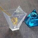 シリコン製透明レジン型ピラミッド 5cm(シリコンモールド シリコン型)【クリスタルシリコン】 オルゴナイト