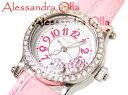女の子の永遠の人気、文字盤のキラキラ、ハートがポイントです★★ALESSANDRA OLLA FIRENZE・えびちゃん腕時計・通常SALE価格