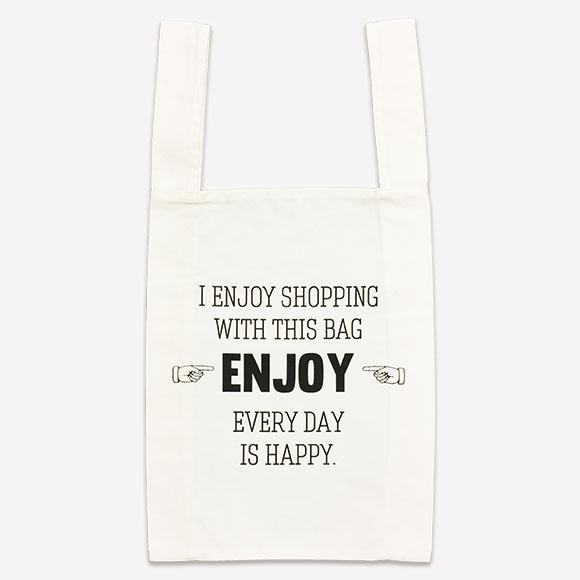 【70%OFF SALE!!】ECO BAG ENJOYエコバッグ エンジョイかわいい おしゃれ バッグ サブバッグ ギフト プレゼント ママバッグ レジカゴバッグ トートバッグ型 お買い物バッグ