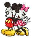 DISNEY ミッキー&ミニーワッペン 入園・入学準備に♪