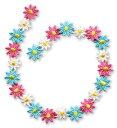 【なが〜いアップリケ】 3色のお花