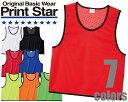 00007-BBSメッシュビブス PRINT STAR プリントスター スポーツ イベント