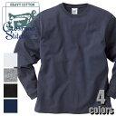 オープンエンドマックスウェイト ロングスリーブ Tシャツ(リブ有り)RL1216 CROSS&STITCH カジュアル