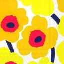 marimekko マリメッコ 可愛い ペーパーナプキン デコパージュ☆UNIKKO dark yellow☆(1枚/バラ売り)