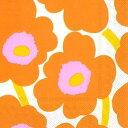 marimekko マリメッコ 可愛い 4つ折りペーパーナプキン☆UNIKKO orange☆(20枚入り)
