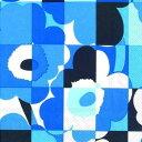 marimekko マリメッコ 可愛い ペーパーナプキン デコパージュ☆MINI-RUUTU-UNIKKO blue ルートゥ ウニッコ ブルー チェックのケシ..