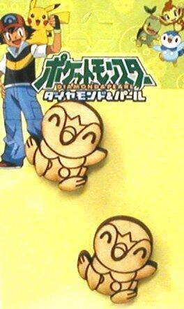 キャラクター ボタン ・ポケットモンスター(ポッチャマ)(木ボタン)( キャラクターボタン チルドボタン チャイルドボタン ぼたん 釦 飾り アクセサリー 可愛い かわいい 子供 こども 手芸 )【ゆうパケット(メール便)OK】