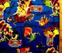 恐竜キング(紺)3(ビニールコーティング・ラミネート生地)【×クロネコDM便不可】