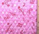 ピアノクラブ(ピンク)(材料セット・キルティング)レッスンバッグ(またはピアニカケース)とシューズケース用手作りキット【×クロネコDM便不可】