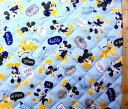 ミッキーマウス(ブルー)#60(材料セット・キルティング)レッスンバック(またはピアニカケース)とシューズケース用手作りキット【..