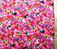<Qキャラクター・キルティング生地>パワーパフガールズ(ピンク【キルティング】【キルト】【キャラクター】【キルティング生地】【布】【入園】【入学】