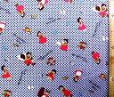 キャラクター 生地 アルプスの少女ハイジ ( チェック 紺 ) 柄番号5 ( 2018 - 2019 ) 【 生地 】【 布 】【 キャラクター生地 】