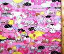 <Qキャラクター キルティング生地>サンリオ キャラクターズ(ピンク)#8【キルティング】【キルト】【キャラクター】【キルティング生地】【布】【入園】【入学】
