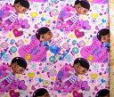 <キャラクター生地 布 USAコットン 直輸入正規ライセンス品>ドックはおもちゃドクター(ピンク)#6【ディズニー】【生地】【布】【キャラクター生地】【入園】【入学】