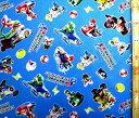 キャラクター ラミネート 生地 マリオカート8 DX ( ブルー ) 柄番号2 ( ビニールコーティング 生地 ビニールシート ラミネート加工 撥水 はっ水 撥水加工 防水 防水加工 ) 【×メール便 ( ゆうパケット ) 不可】