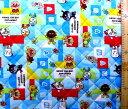 アンパンマン(ブルー)#73(材料セット レシピ付き キルティング)レッスンバック(またはピアニカケース)とシューズケース用手作りキット(キャラクター 生地 材料キット )【ゆうパケット(メール便)OK】
