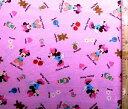 キャラクター 生地 布 ミニーマウス(ピンク)7ディズニー【キャラクター】【生地】【布】【キャラクター生地】【入園】【入学】
