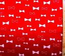巾着袋(材料セット)・チャーミーリボン(赤) 【体操服入れ・給食袋・お弁当袋・コップ袋が各1個(合計4個)作れます】