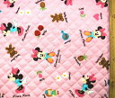 <Qキャラクター・キルティング生地>ミニーマウス(ピンク)7ディズニー【キルティング】【キルト】【キャラクター】【キルティング生地】【布】