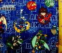 キャラクター 生地 布 爆丸バトルブローラーズ(紺)【キャラクター】【生地】【布】【キャラクター生地】