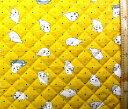 <Qキャラクター・キルティング生地>少年アシベ(イエロー)【キルティング】【キルト】【キャラクター】【キルティング生地】【布】【入園】【入学】