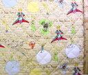 リトルプリンス (星の王子さまと私)(ベージュ)#2【キルティング】【キルト】【キャラクター】【キルティング生地】【布】【入園】【入学】