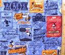 <Qキャラクター・キルティング生地>ミッキーマウス(ブルー)#65ディズニー【キルティング】【キルト】【キャラクター】【キルティング生地】【布】