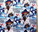 ジェイクとネバーランドのかいぞくたち(ブルー)【ディズニー】【生地】【布】【キャラクター生地】【入園】【入学】