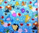 キャラクター 生地 布 ポケットモンスター(ブルー)#90( 2018 )【生地】【布】【キャラクター生地】【入園】【入学】