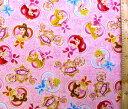 <キャラクター生地・布>ディズニープリンセス(ピンク)#49【ディズニー】【生地】【布】【キャラクター生地】【入園】【入学】