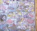 <キャラクター生地・布>ディズニープリンセス(薄ブルー)#54【ディズニー】【生地】【布】【キャラクター生地】【入園】【入学】
