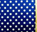 リップル生地(サッカー生地)・水玉(紺地に白水玉)(布 浴衣 ゆかた 甚平 ジンベイ じんべえ パジャマ 夏素材 ベビー キッズ ハンドメイド 手芸)